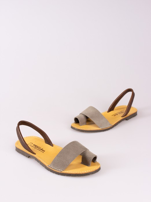 Suede and Smooth Leather Menorquina
