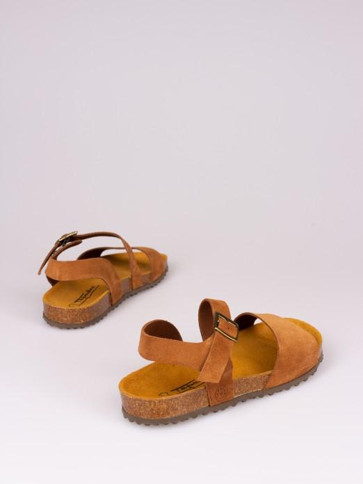 Sandália Bio em Camurça