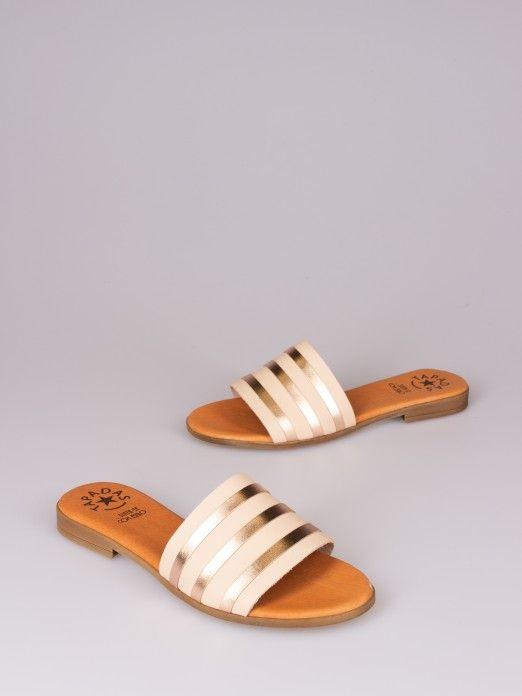 Laminated Strips Slipper