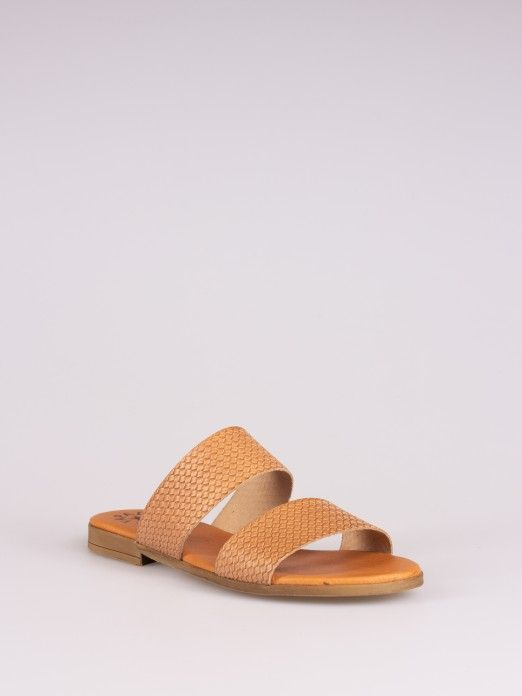 Double Strap Braided Leather Slipper