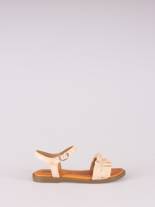 Sandal with Pleats