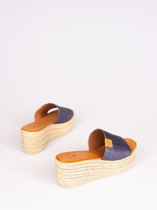 Raffia Effect Wedge Clog