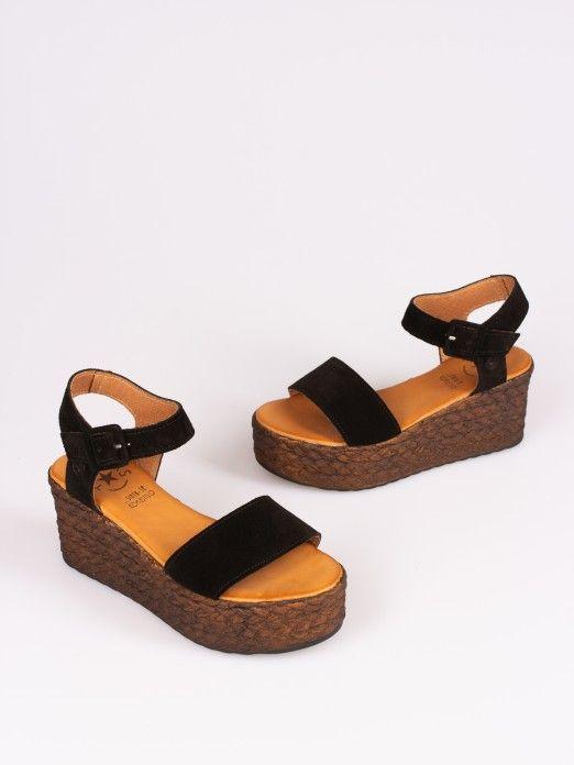 Suede Wedge Sandal