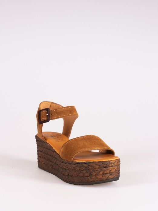 Suede Wedge Sandal
