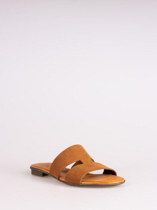 Side Cutout Suede Slipper