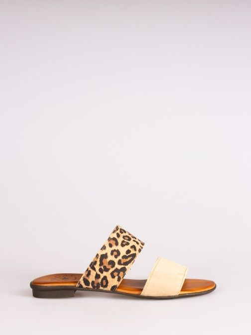 Double Strap Leopard Slipper