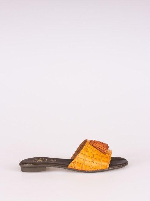Chinela Pele Croco com Berloques