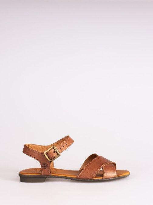 Crossed Flat Sandal