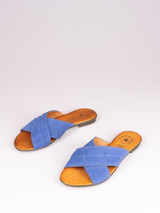 Crossed Suede Slipper