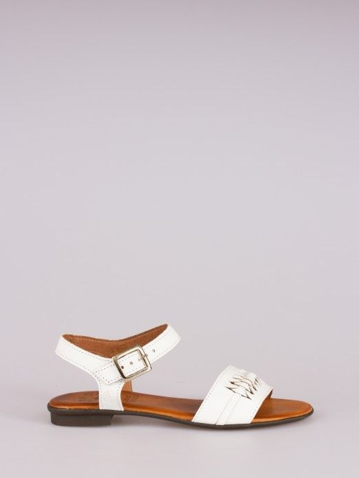 Braided Effect Leather Sandal