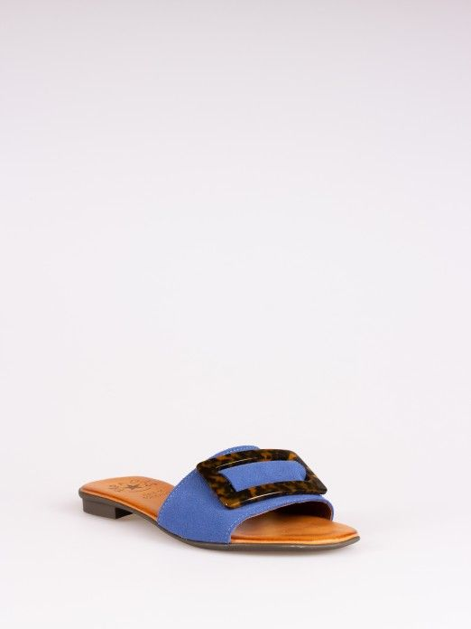 Buckle Suede Slipper