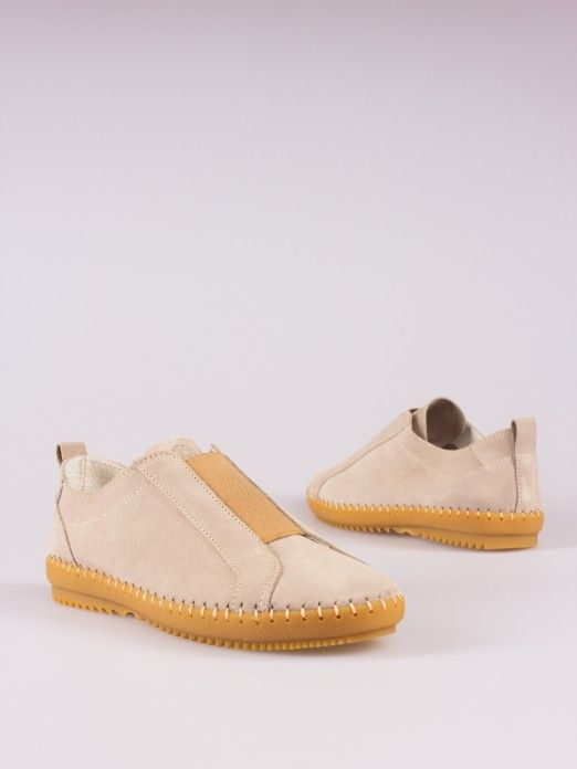 Elasticated Suede Sneakers