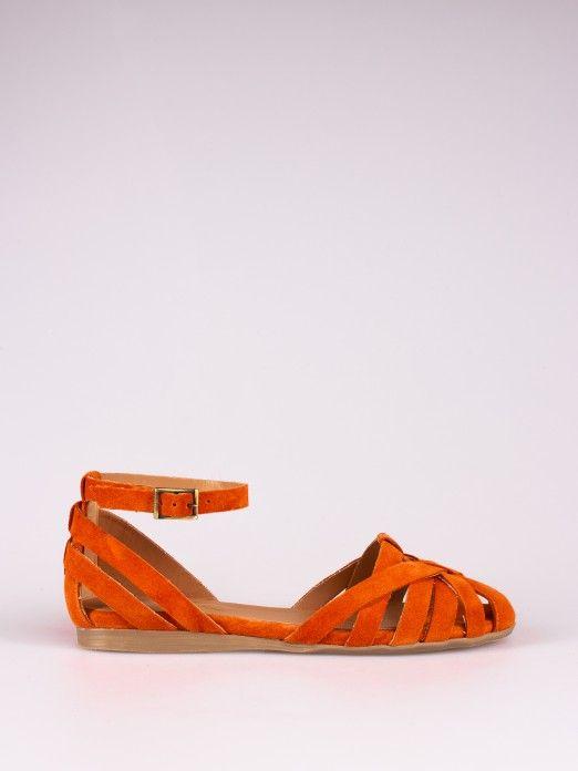 Suede Straps Sandal