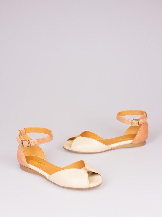 Bicolor Leather Sandal