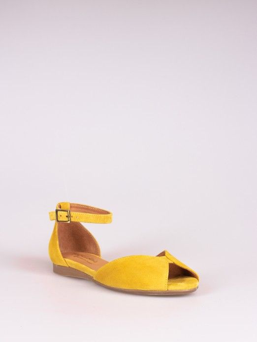Suede Open Sandal