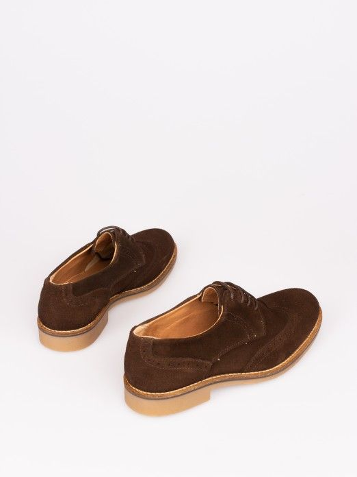 Suede Shoes with Stitching Sole