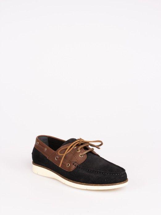Sapato de Vela em Camurça e Pele