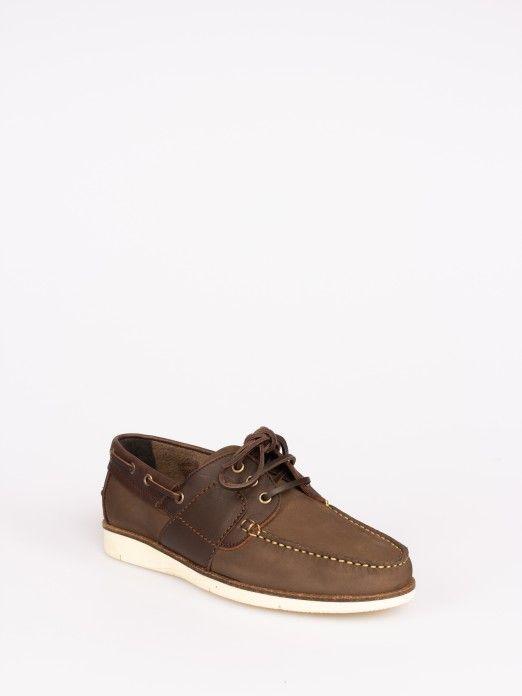 Sapato de Vela em Nobuck e Pele