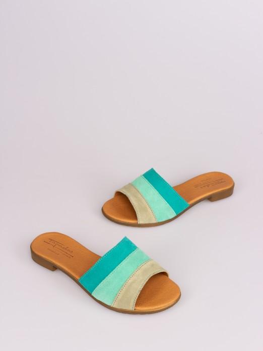 Tricolor Suede Slipper