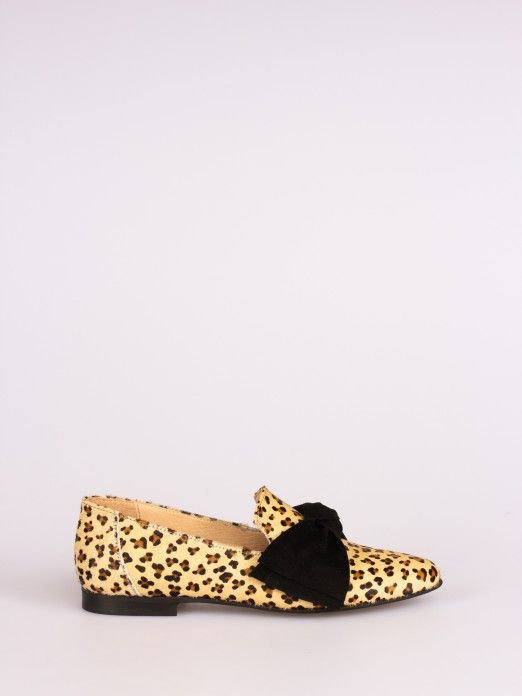 Leopard-Print Bow Moccasin