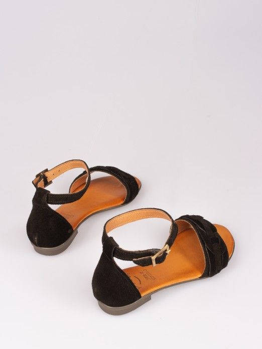 Suede Flat Sandal