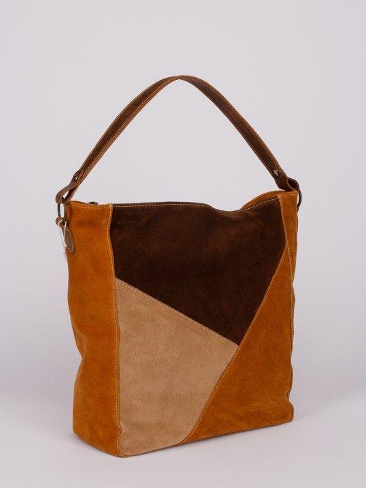 Geometric Tricolor Pattern Shoulder Bag