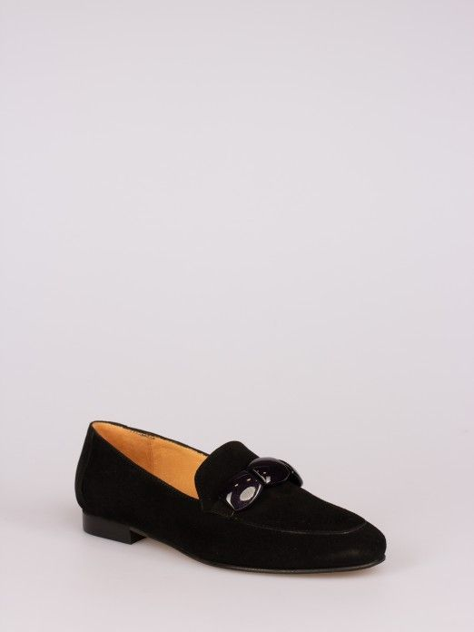 Suede Loafers with Application
