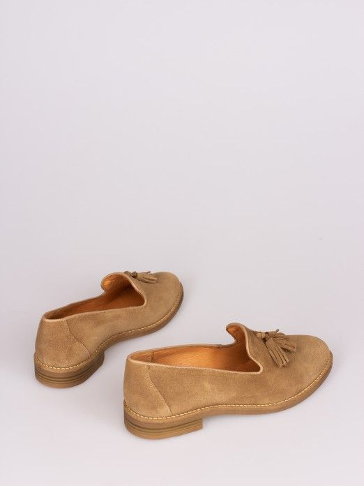Suede Moccasin with Tassel