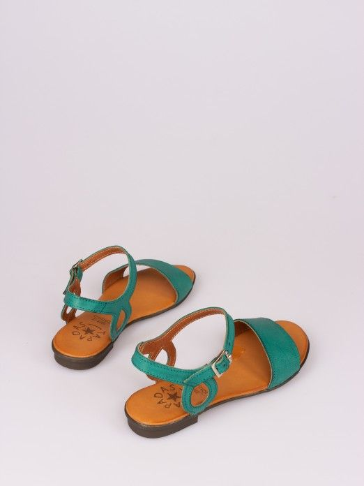 Leather Flat Sandal