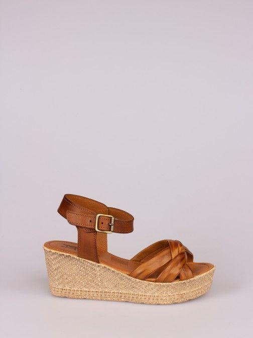 Bicolor Wedge Sandal