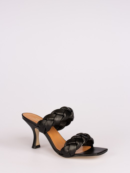 Mule Sandals with Braided Leather