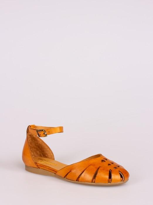 Closed Leather Sandal
