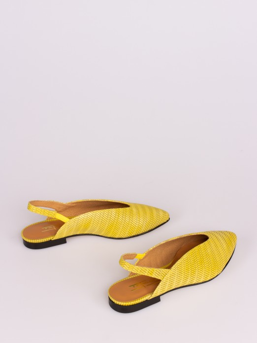 Engraved Leather Mules