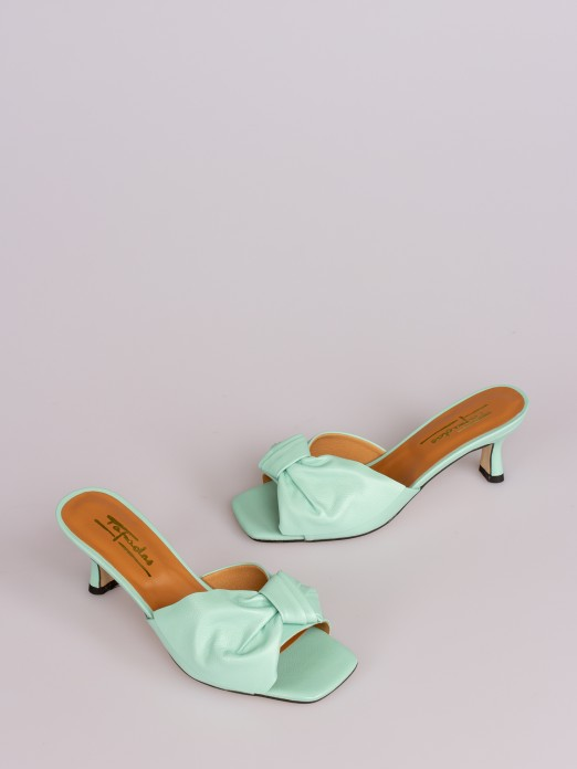 Mule Sandals with Lace