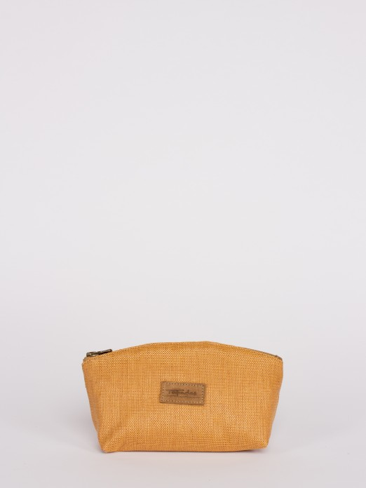 Raffia Effect Medium Purse