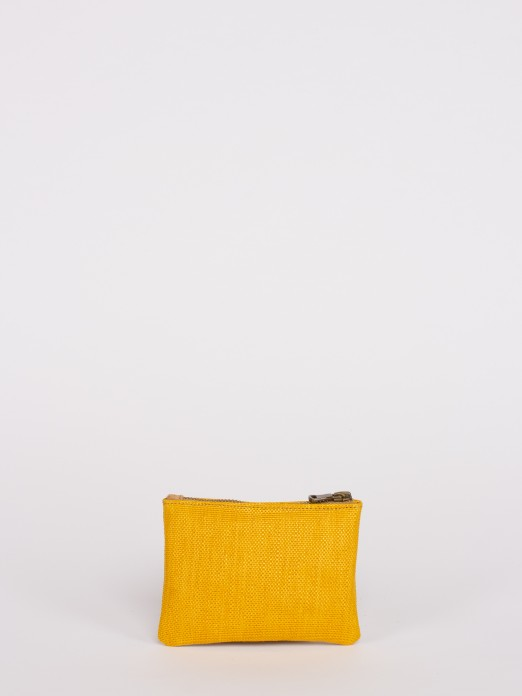 Raffia Effect Medium Wallet