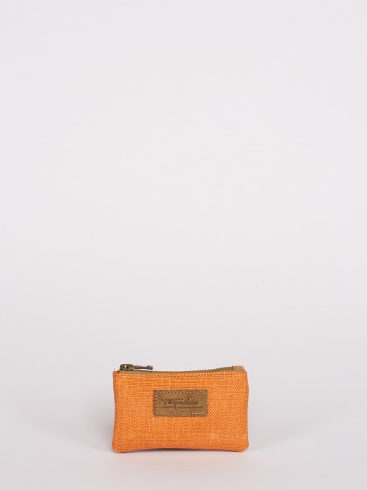 Raffia Effect Small Wallet