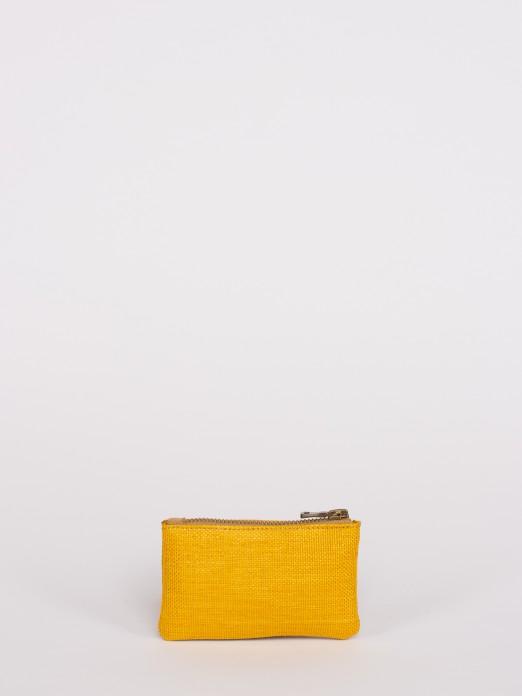 Raffia Effect Small Wallet