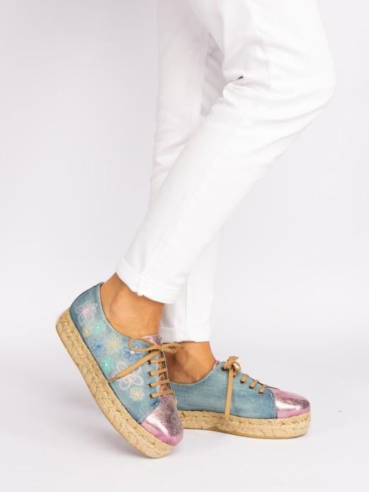 Sapato Estilo Alpercata Floral