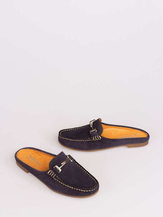 Suede Mule with Chains