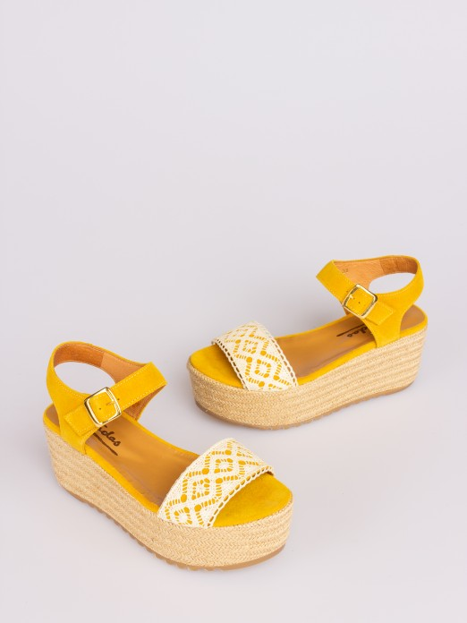 Wedge Sandal with Lace