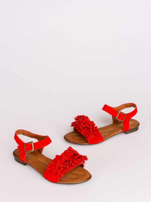 Flat Sandal with Fringes
