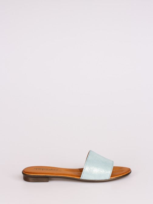 Laminated Leather Slipper