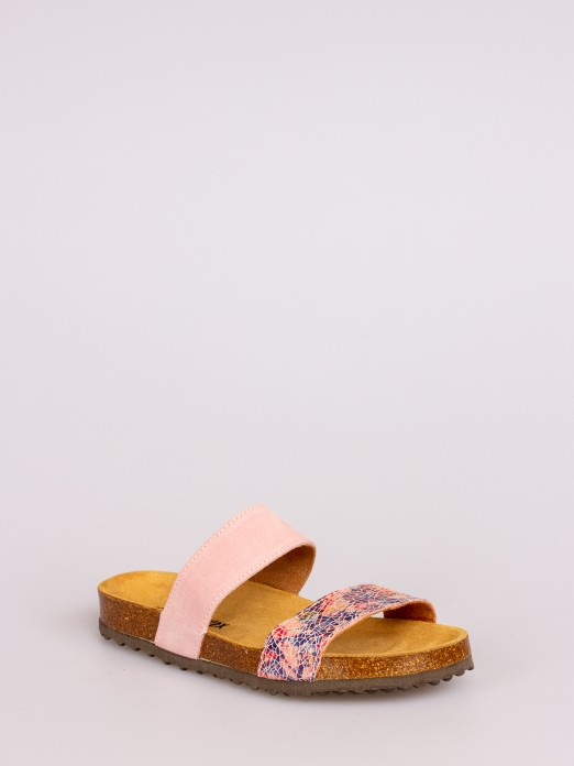 Two Straps Suede Bio Slipper