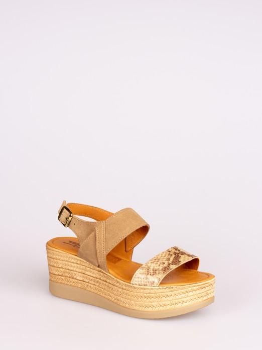 Animal-Print Wedge Sandal
