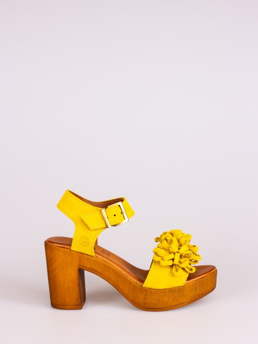 Suede Compensated Sandal