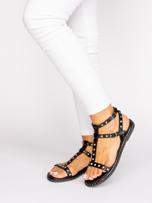 Gladiator Sandal with Taches
