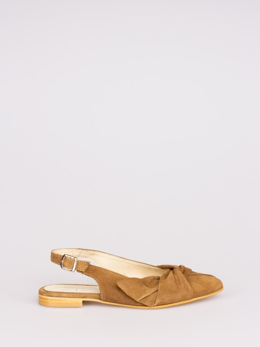 Suede Mules with Knot