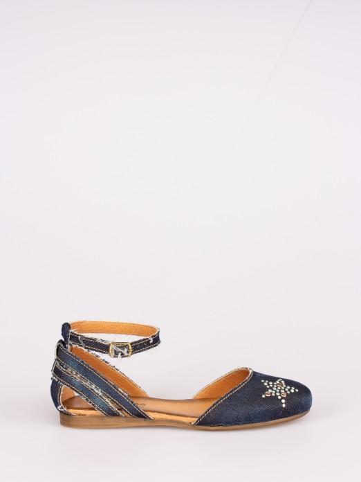 Jeans Flat Sandals