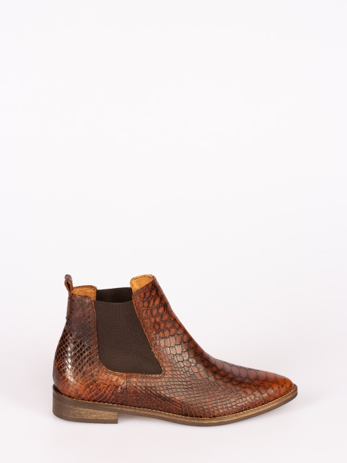 Anaconda Leather Elastic Boots